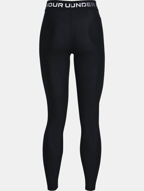 Under Armour Women's HeatGear Armour Wordmark Waistband Full-Length Leggings