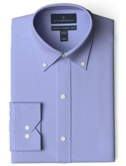 Amazon Brand - Buttoned Down Men's Tailored-Fit Button Collar Pinpoint Non-Iron Dress Shirt