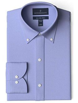 Amazon Brand - Buttoned Down Men's Slim Fit Button Collar Solid Dress Shirt