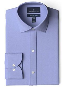 Amazon Brand - Buttoned Down Men's Slim Fit Spread Collar Pinpoint Dress Shirt