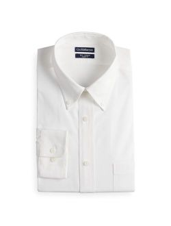 Men's Croft & Barrow Classic-Fit No-Iron Button-Down Collar Long Sleeve Dress Shirt