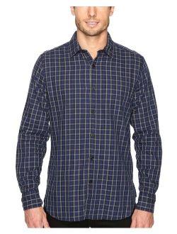 Mens Small Plaid Button Up Shirt