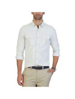 Mens Slim-fit Button Up Shirt