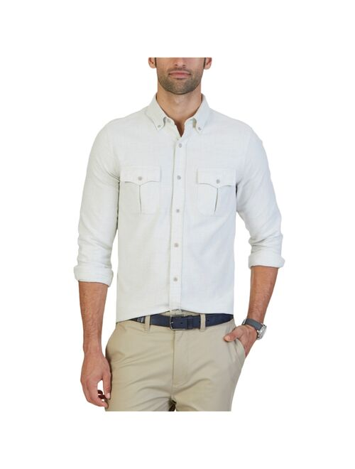 Nautica Mens Slim-Fit Button Up Shirt