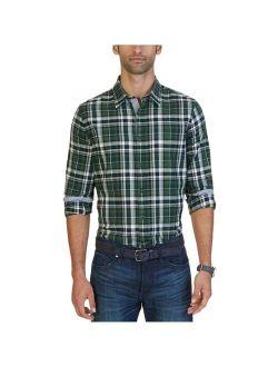 Mens Slim Fit Plaid Button Up Shirt