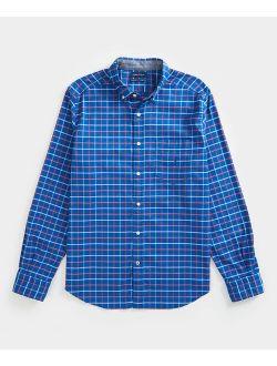 | Windsurf Blue Plaid Oxford Button-up - Men