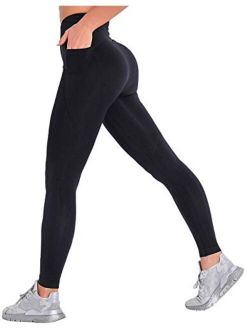 MANIFIQUE Womens Seamless Leggings High Waisted Workout Tight Leggings Gym Yoga Pants Tummy Control Sports Compression