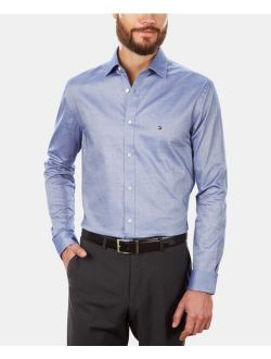 Men's Slim-Fit Stretch Solid Long Sleeve Dress Shirt