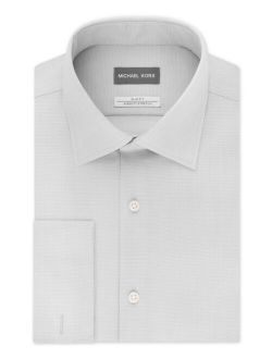 Men's Slim-Fit Airsoft Stretch Moisture-Wicking Non-Iron Dress Shirt With French Cuff