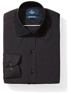 Amazon Brand - Buttoned Down Men's Slim Fit Stretch Poplin Dress Shirt, Supima Cotton Non-Iron, Spread-Collar