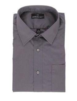 AB Regular Fit Gray Cotton Blend Long Sleeve Dress Shirt 3XL 19.5 34/35