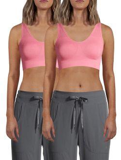 Women's Seamless Comfort Bra, 2 Pack