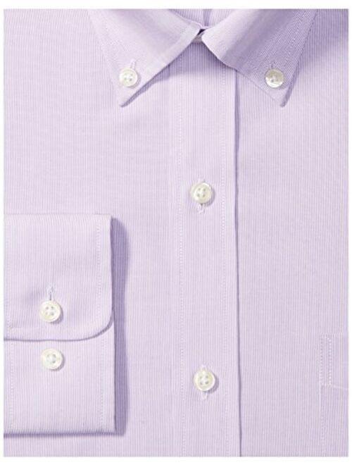 Buttoned Down Mens Classic Fit Button Collar Pattern Dress Shirt Brand