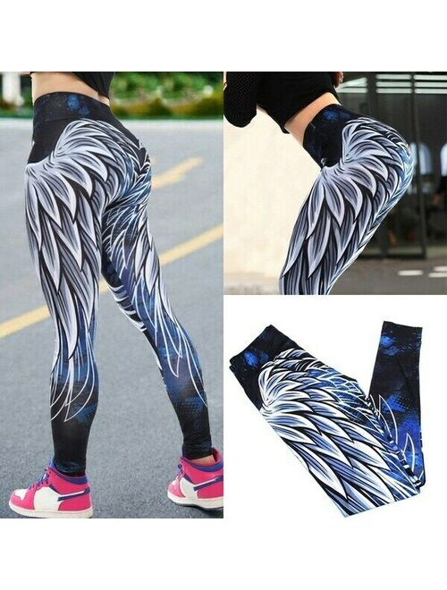Fittoo Women High Waist Yoga Pants Push Up Leggings Workout Compression Ruched Trousers