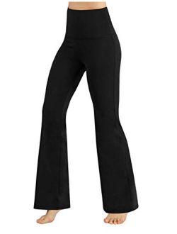 ODODOS Women's Boot-Cut Yoga Pants Tummy Control Workout Non See-Through Bootleg Yoga Pants