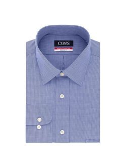 Men's Chaps Essentials Wrinkle Free Regular-Fit Spread Collar Dress Shirt