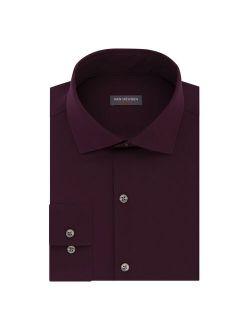 Heusen Slim-fit 4-way Stretch Traveler Spread-collar Dress Shirt