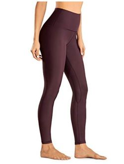 CRZ YOGA Fleece Lined Winter Warm Full Length High Waist Tummy Control Compression Leggings Yoga Pants Workout Tight -28 Inches