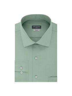 Heusen Regular-fit Flex Textured Solid Spread-collar Dress Shirt