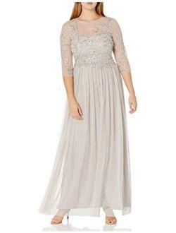 Women's Long Beaded Dress Gown
