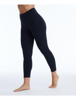 Marika | 22'' Black Carrie High Waist Tummy Control Crop Leggings - Women