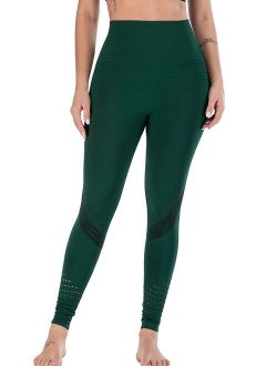 Women's Slimming Support and Comfort Leggings Natural Look Compression Yoga Pants Green/Black/Grey