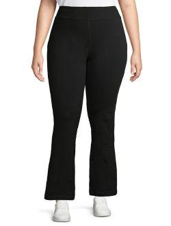 Women's Plus Size Flared Yoga Sweatpants