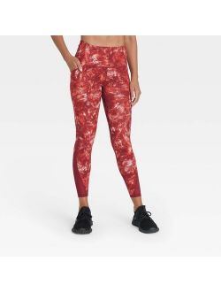 """Women's Sculpted Linear High-Waisted 7/8 Leggings 25"""" - All in Motion"""