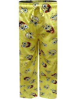 Mad Engine Men's Nickelodeon Spongebob Happy Faces Tall Lounge Pants