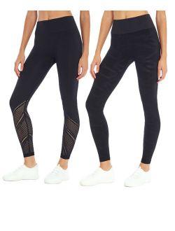 Black 25'' Abstract High-Waist Leggings Set - Women