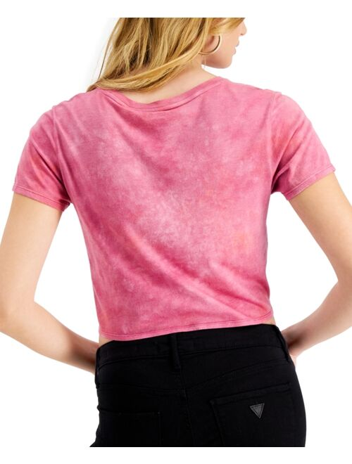 GUESS Island Time Cropped Tie-Hem Top