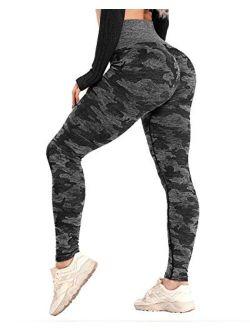 CFR Women's High Waist Tummy Control Legging Workout Butt Lift Stretchy Yoga Pants