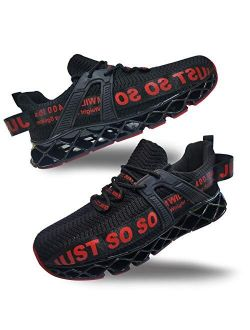 Mens Running Athletic Blade Non Slip Breathable Walking Tennis Shoes Sports Gym Casual Fashion Sneakers Main