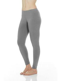 Thermajane Women's Ultra Soft Thermal Underwear Pants Fleece Lined Bottoms Long John Leggings