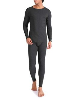 DAVID ARCHY Men's Thermal Underwear Ultra Soft Brushed Thermal Pants Bottoms Long Johns and Top Quick Dry Base Layer Set