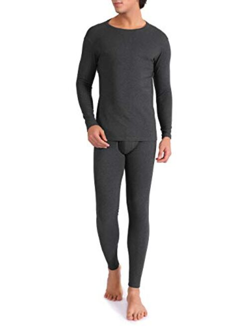 Mens Thermal Base Layer Long Sleeve Compression Top Leggings Tights Underwear Set Wicking Long Johns