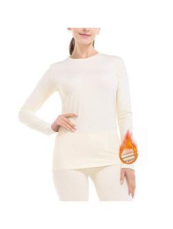 Subuteay Thermal Underwear for Women Ultra Soft Fleece Lined Long Johns Set Top & Pants Base Layer Set