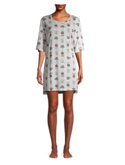 Lazy Day Platinum Silver Nightgown Long Sleepshirt