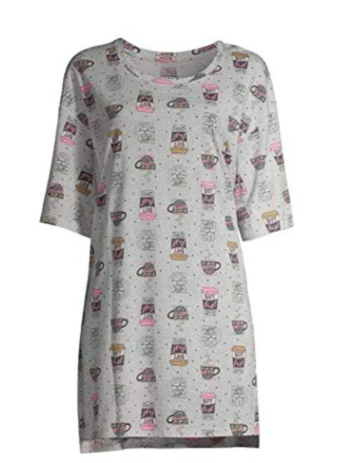 Secret Treasures Lazy Day Platinum Silver Nightgown Long Sleepshirt