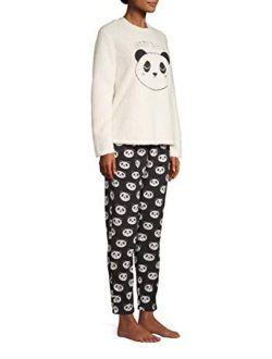 Women's But First Coffee Plush Fleece 2 Piece Pajama Sleep Set