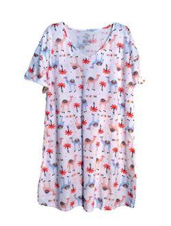 Womens White Hump Day Camel Nightgown Sleepshirt Sleep & Lounge Shirt