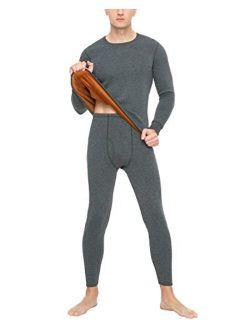 LAPASA Men's Ultra Heavyweight Thermal Underwear Double Layer Long John Set Fleece Lined Base Layer Top and Bottom M63