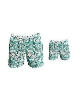Father Son Matching Swim Trunks, Matching Swim Shorts, Dad Son Matching Swim Trunks