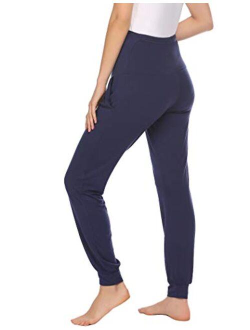 Ekouaer Maternity Leggings Pregnant Women Tights Activewear Pants Stretch Nursing Clothes