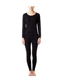 LAPASA Women's 100% Merino Wool Base Layer Long John Set Thermal Underwear Top and Bottom L58