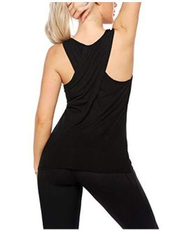 Workout Tank Tops For Women - Cross Back Running Muscle Tank Sport Exercise Gym Yoga Tops Athletic Shirts
