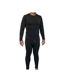 Snow Love Z-Tex Men's Ultra Soft Fleece Lined Thermal Underwear Set with Fly