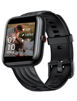 Virmee VT3 Plus Smart Watch for iOS Android Phones, Fitness Tracker 1.5 Inch Touch Screen with Blood Oxygen Meter Step Tracking Heart Rate Monitor, IP68 Valentine's Smart