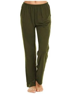 Pajama Pants Women's Casual Lounge Pants Soft Cotton Sleepwear Pj Bottoms With Pockets S-xxl