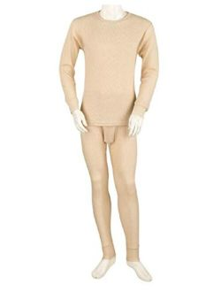 Thermal Underwear Set for Men - Cotton Blend - Waffle Knit for Extra Heat